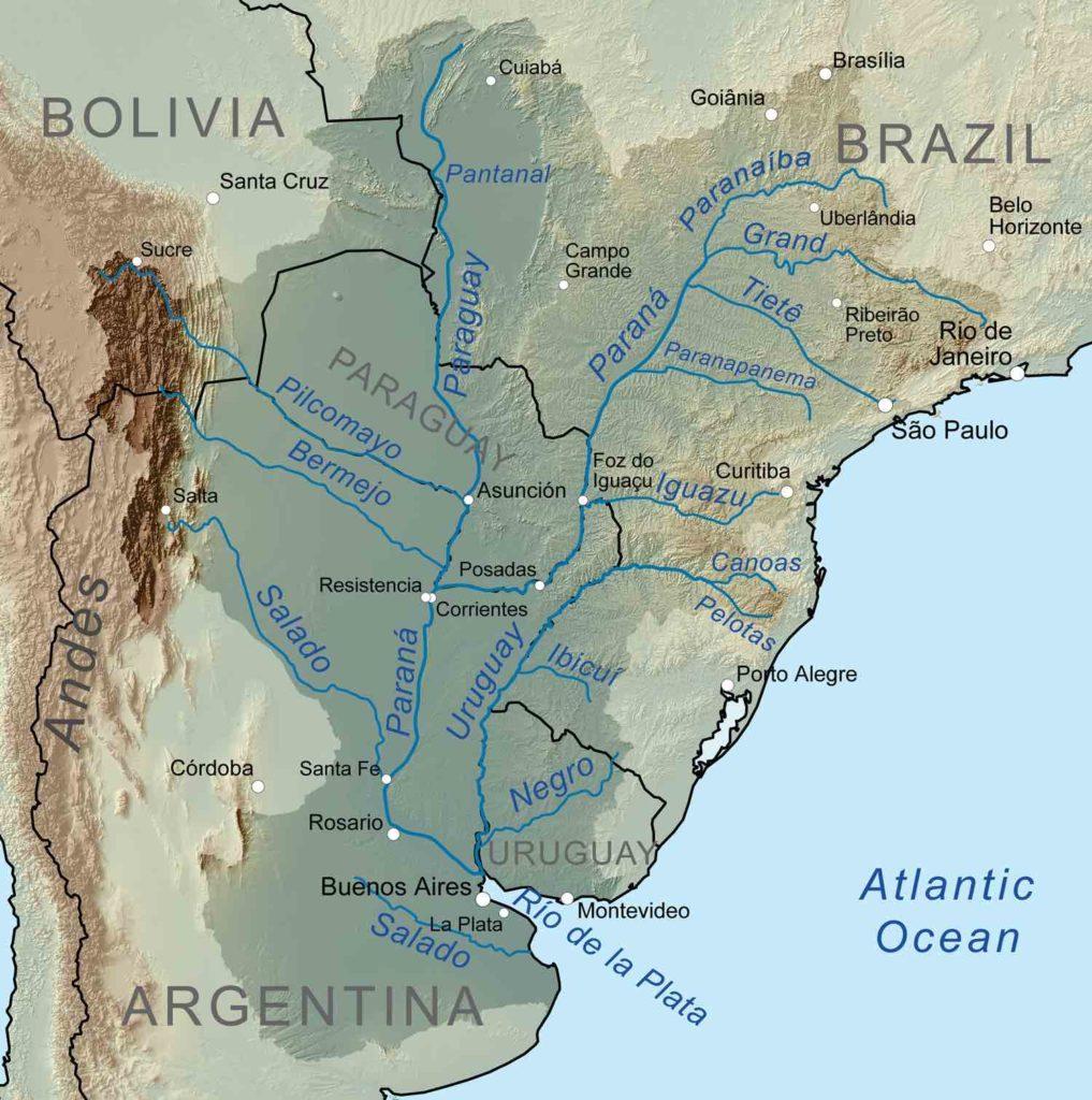 Karte Rio Paraguay